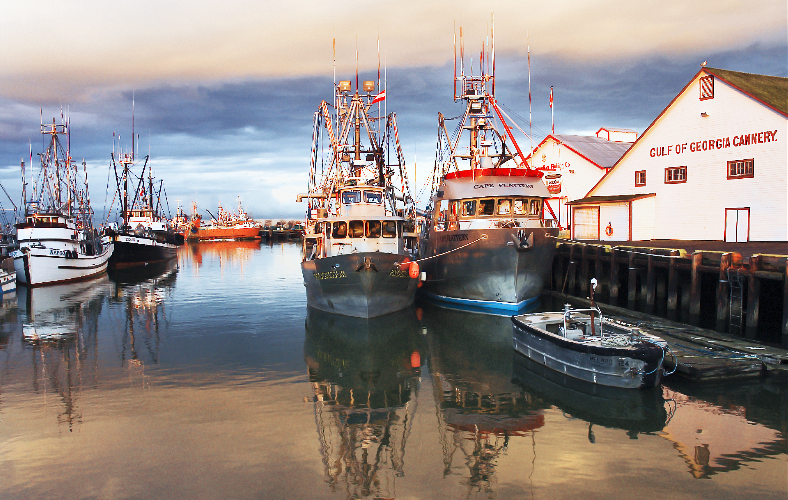 Boats in Steveston Harbour