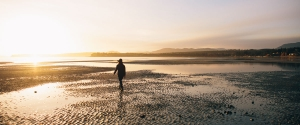 Beachcombing on Parksville, Vancouver Island