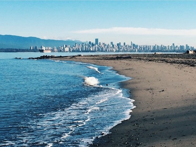 Spanish Banks Beach in Vancouver.