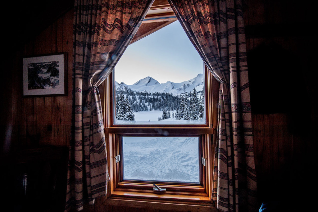 The view from Mistaya Lodge in BC's Rockies. Photo: Mistaya Lodge