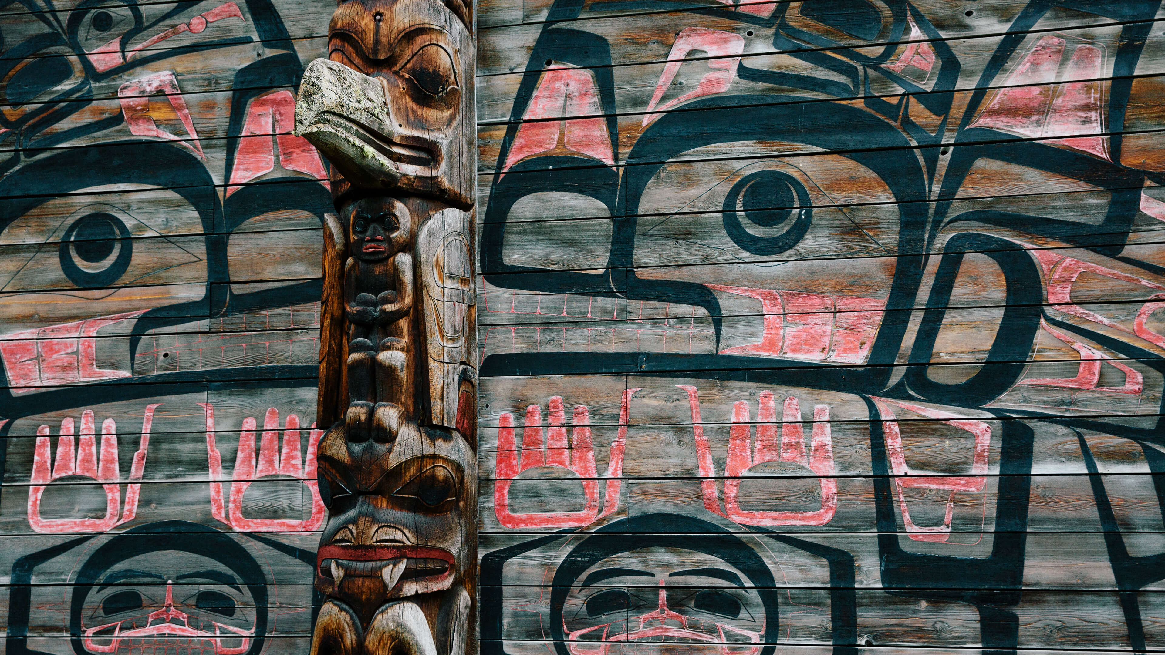 Totem Pole at 'Ksan Historical Village & Museum near Hazelton