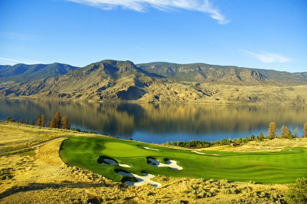 The view from the 9th green of Tobiano Golf Course in Kamloops.