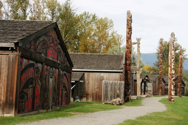 'Ksan Historical Village and Museum in Hazelton.