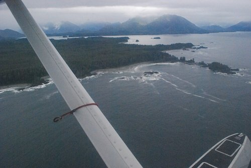 View of Clayoquot Sound from a Float Plane