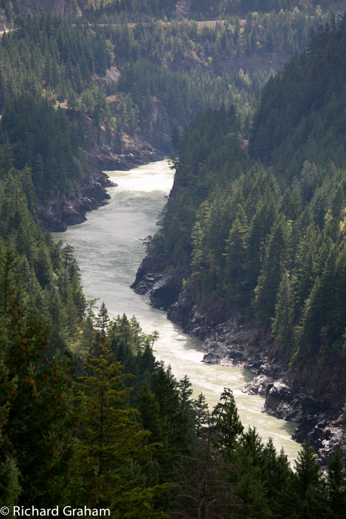 View of the Fraser River Canyon. Photo: Rick Graham