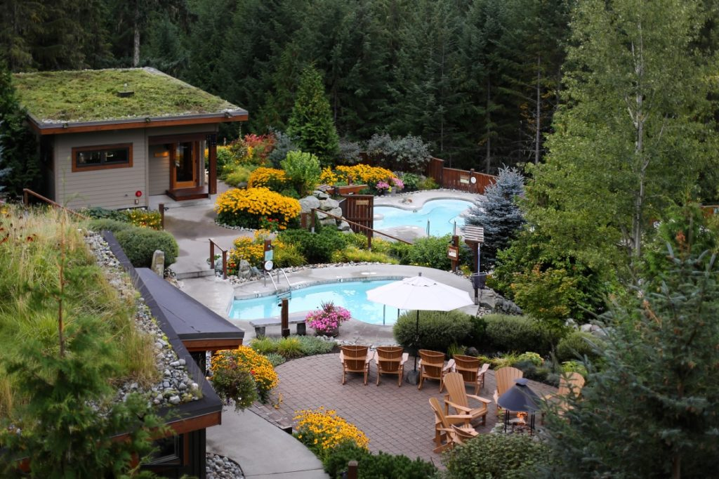 Scandinave Spa in Whistler.