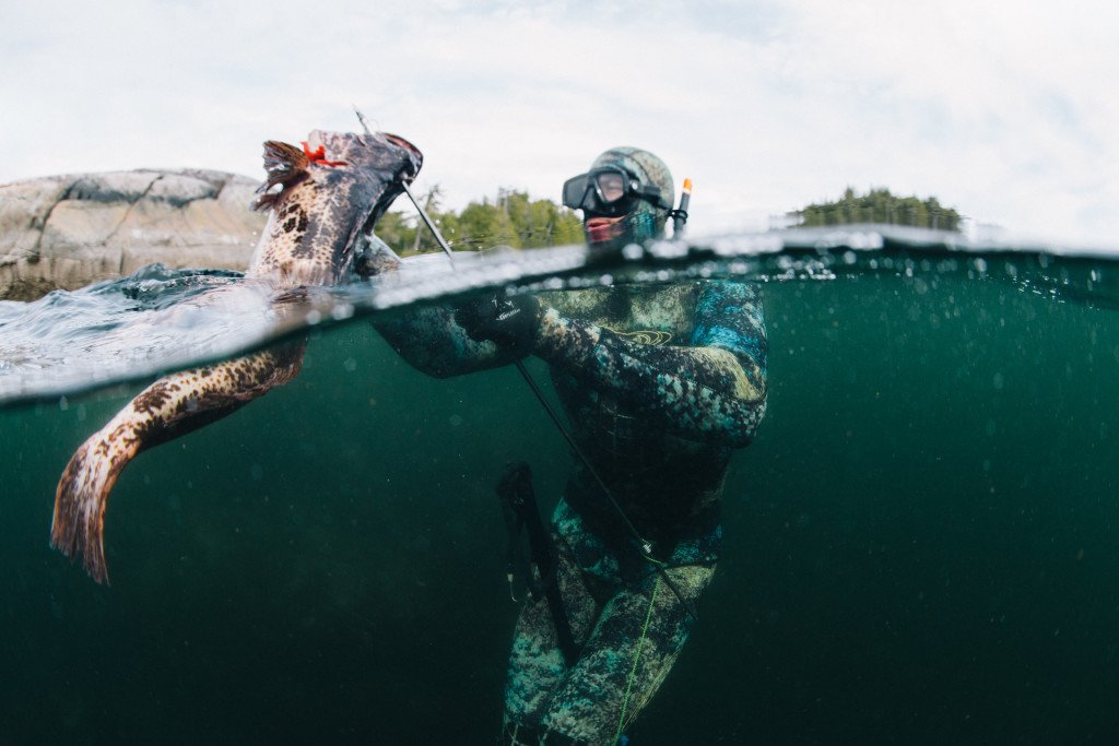 Spearfishing in the Queen Charlotte Strait. Photo: @jeremykoreski