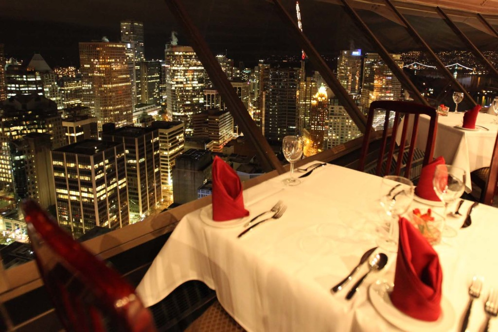 The view from the Top of Vancouver restaurant