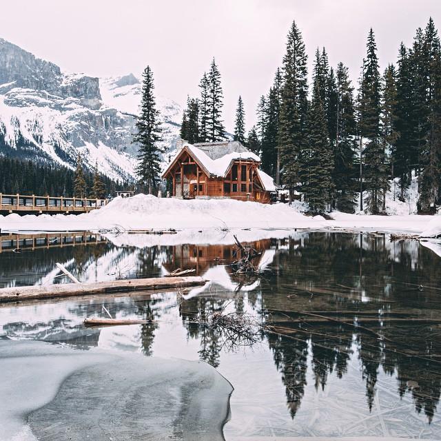 Winter at Emerald Lake Lodge in Yoho National Park - Explore BC