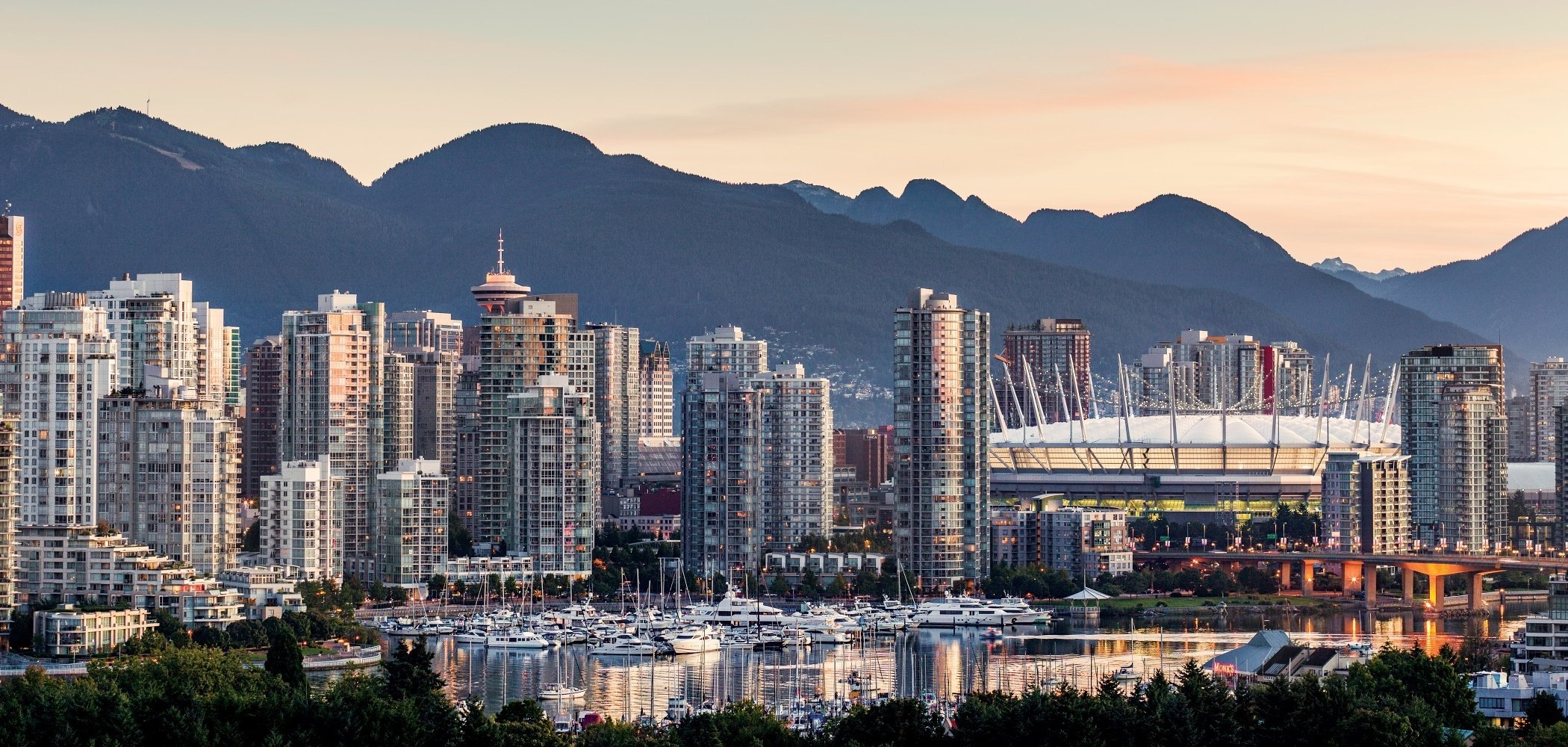 Vancouver skyline at Sunrise