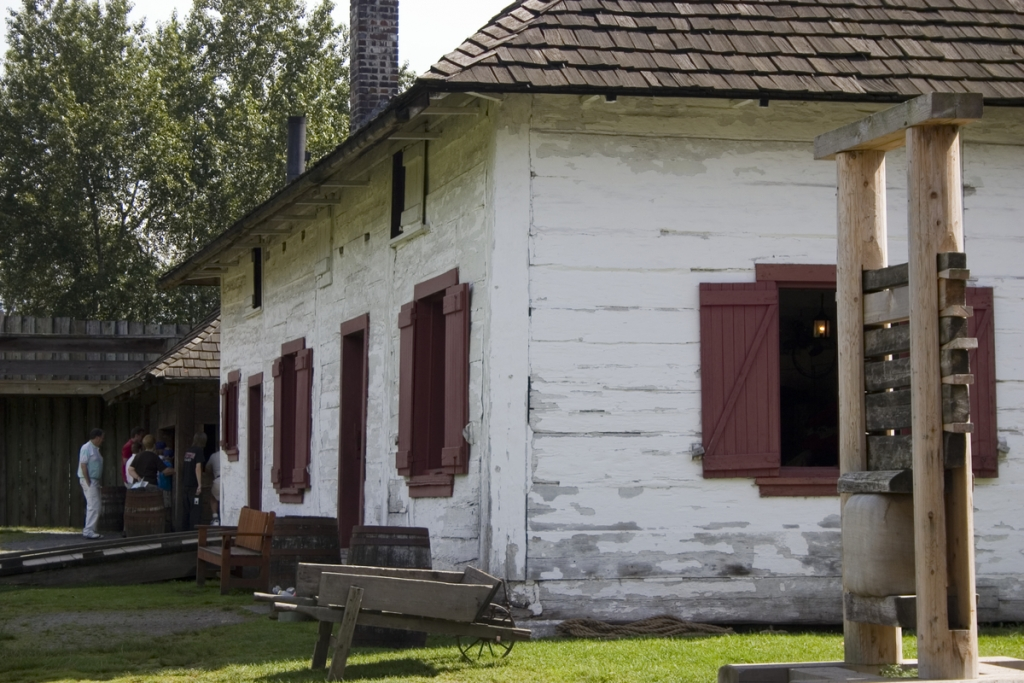 Heritage building at Fort Langley National Historic Site