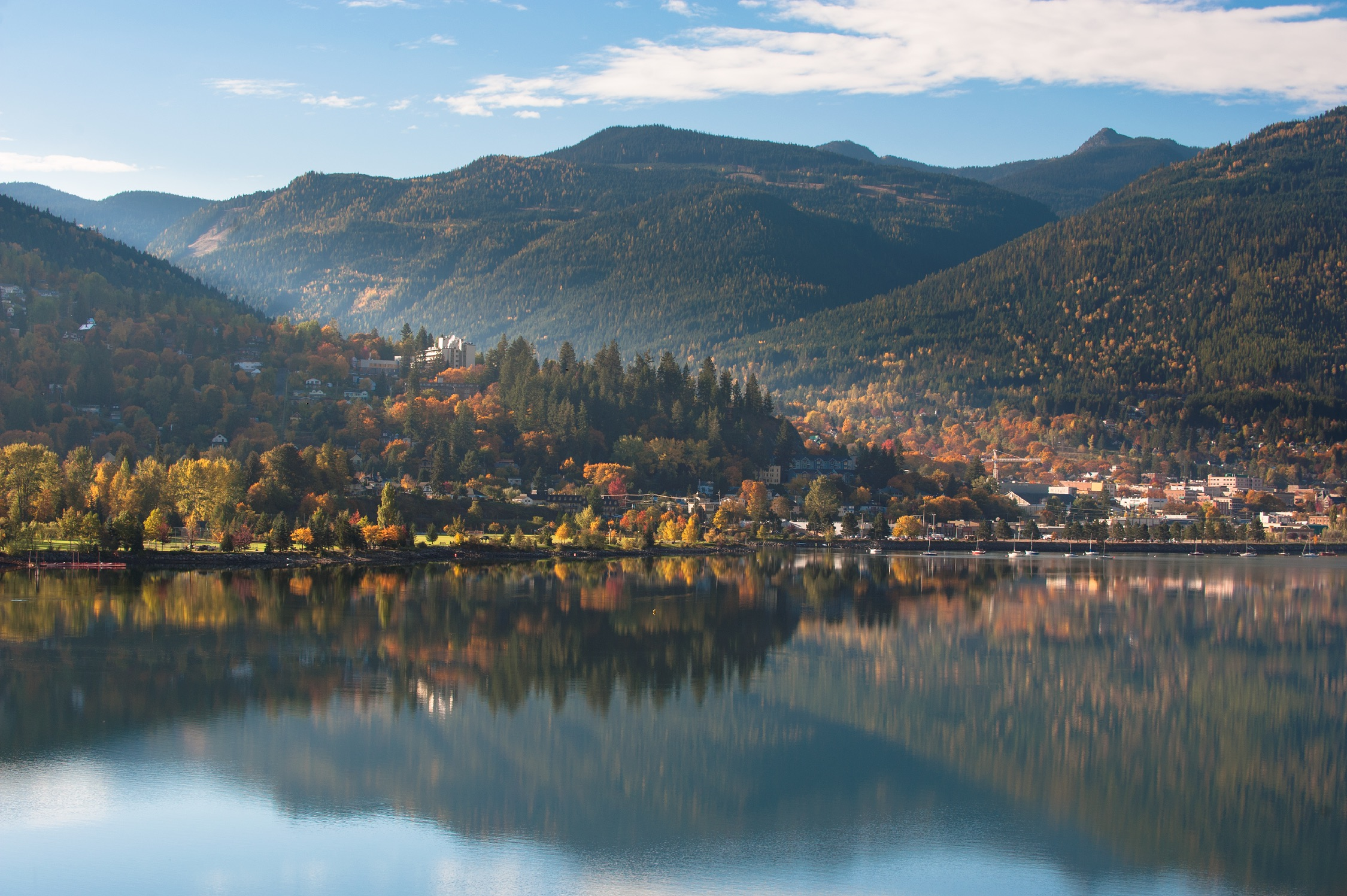 A scenic view of Nelson in the Kootenay Rockies