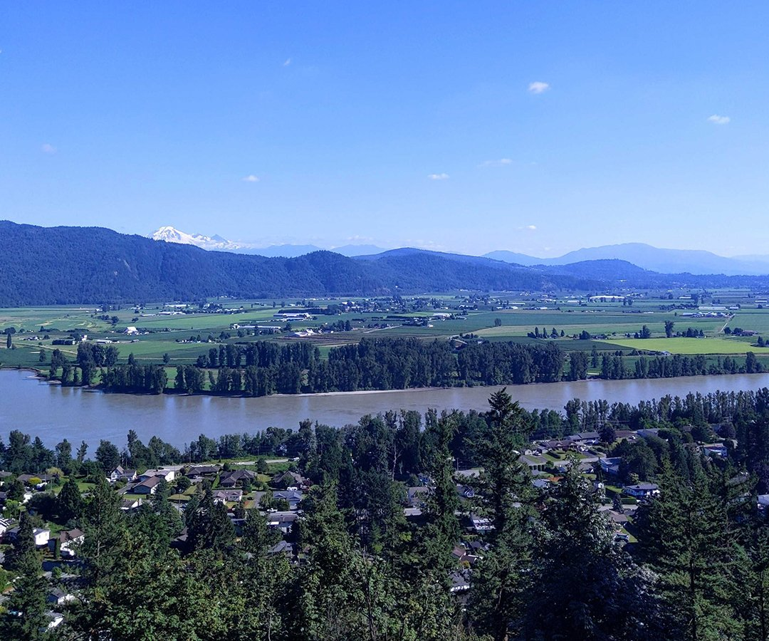 Overlooking Mission and the Fraser River