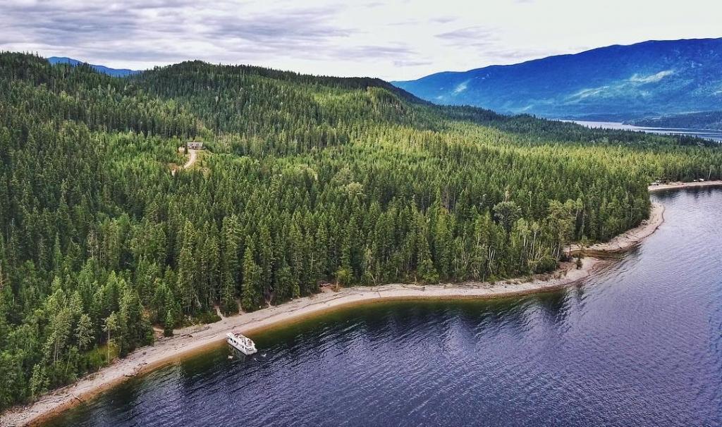 Aerial views of Shuswap Lake