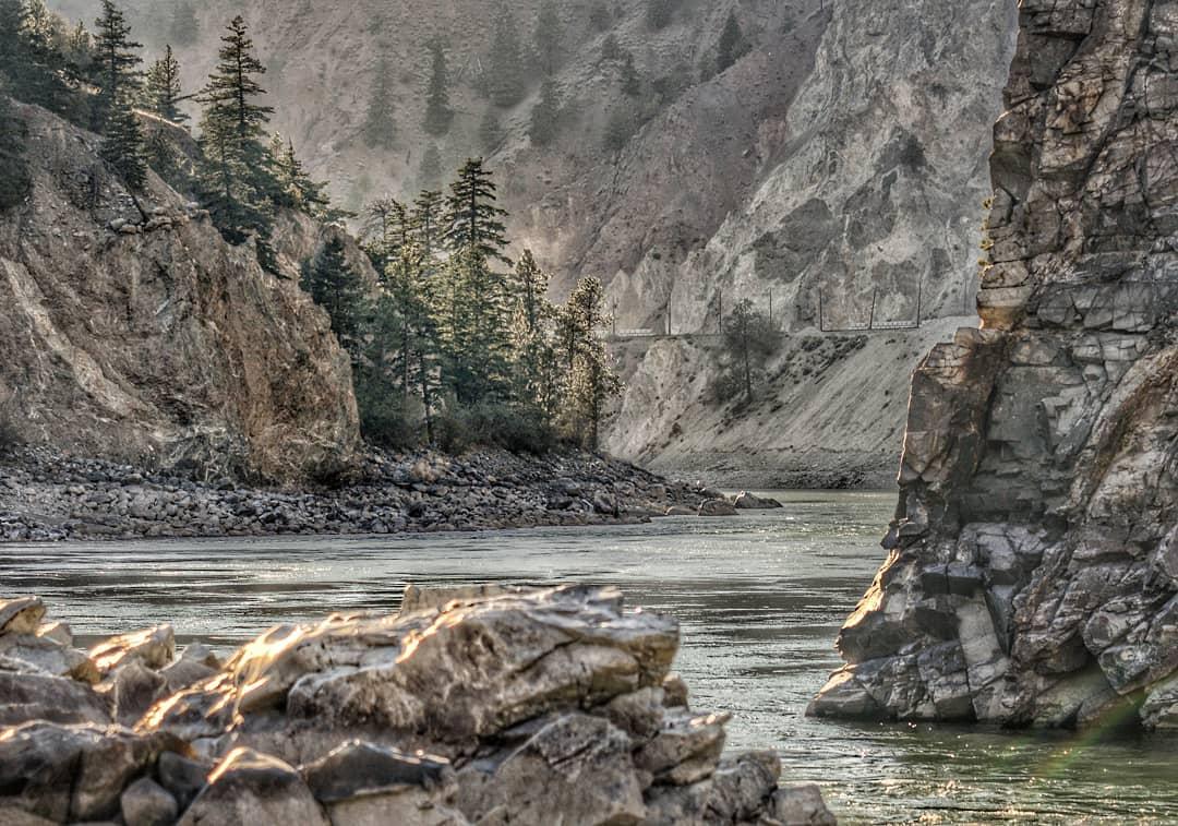 The Thompson River rushes through Lytton, BC