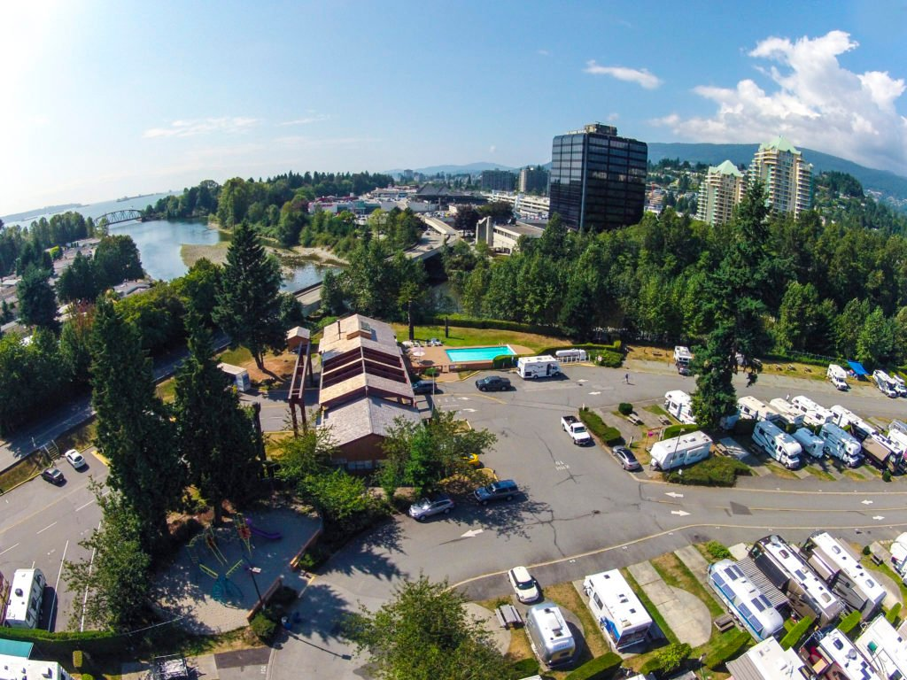 Capilano River RV Park is tucked away on the North Shore near the Lions Gate Bridge.