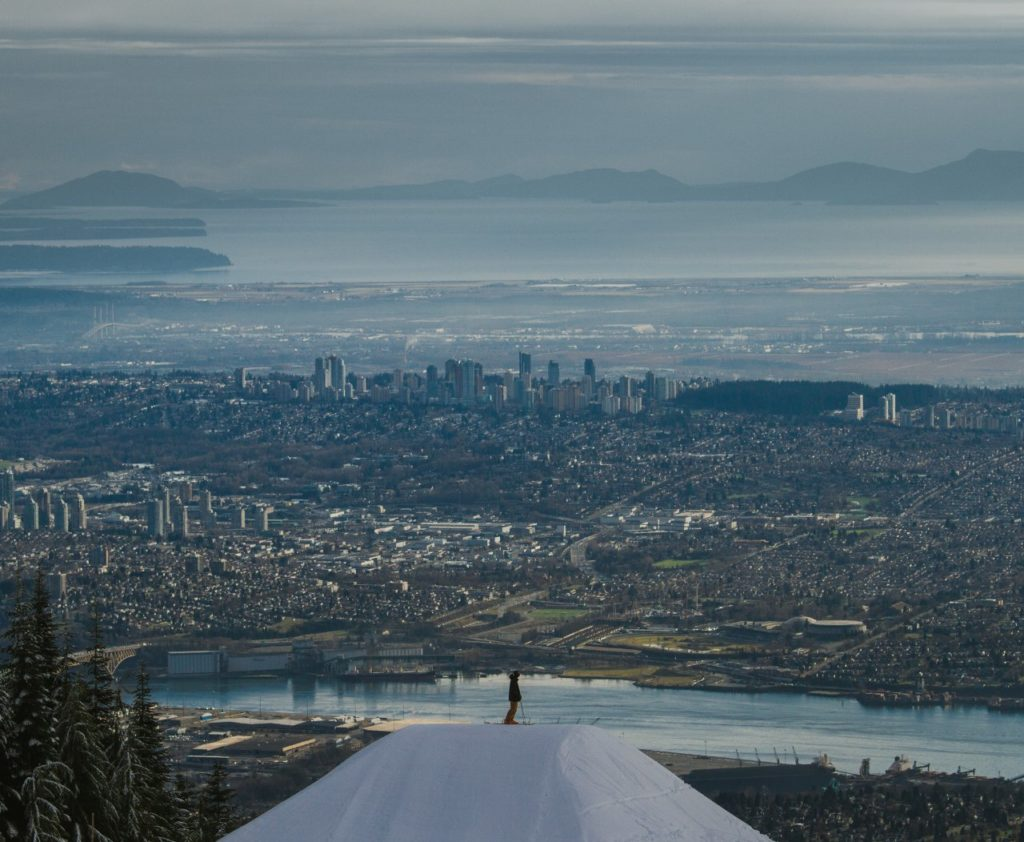 View of Vancouver from Grouse Mountain.