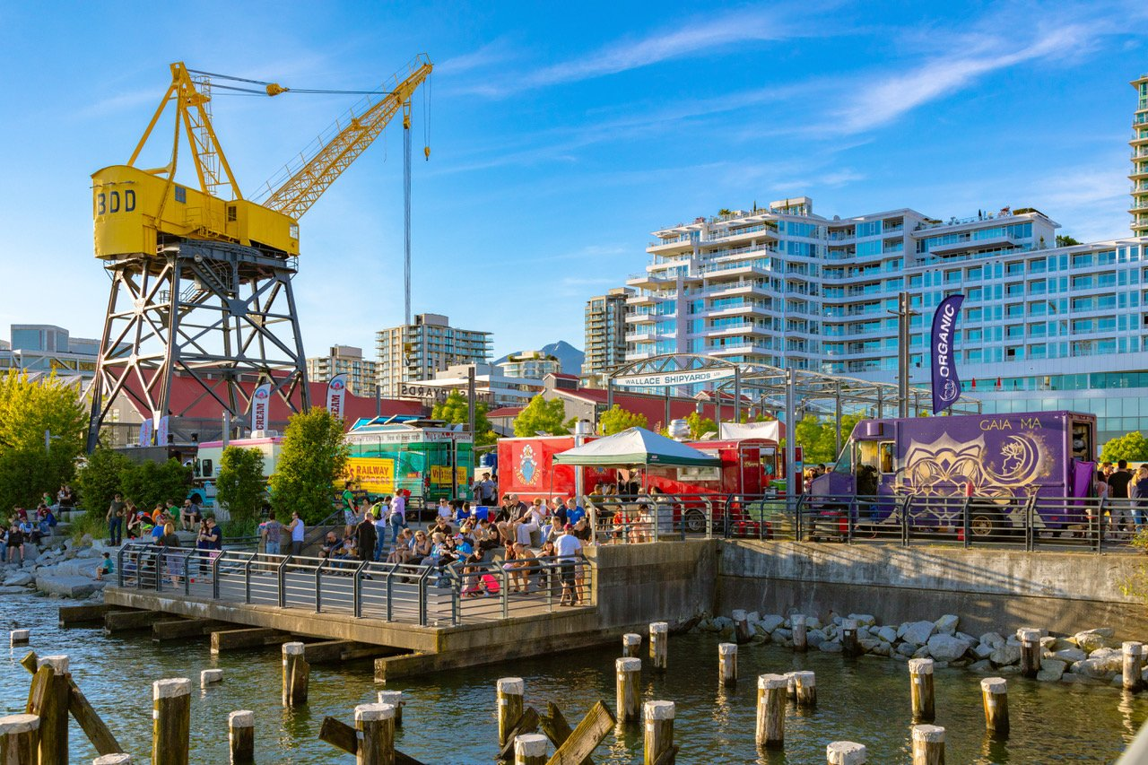 Shipyards Night Market, Lower Lonsdale, North Vancouver