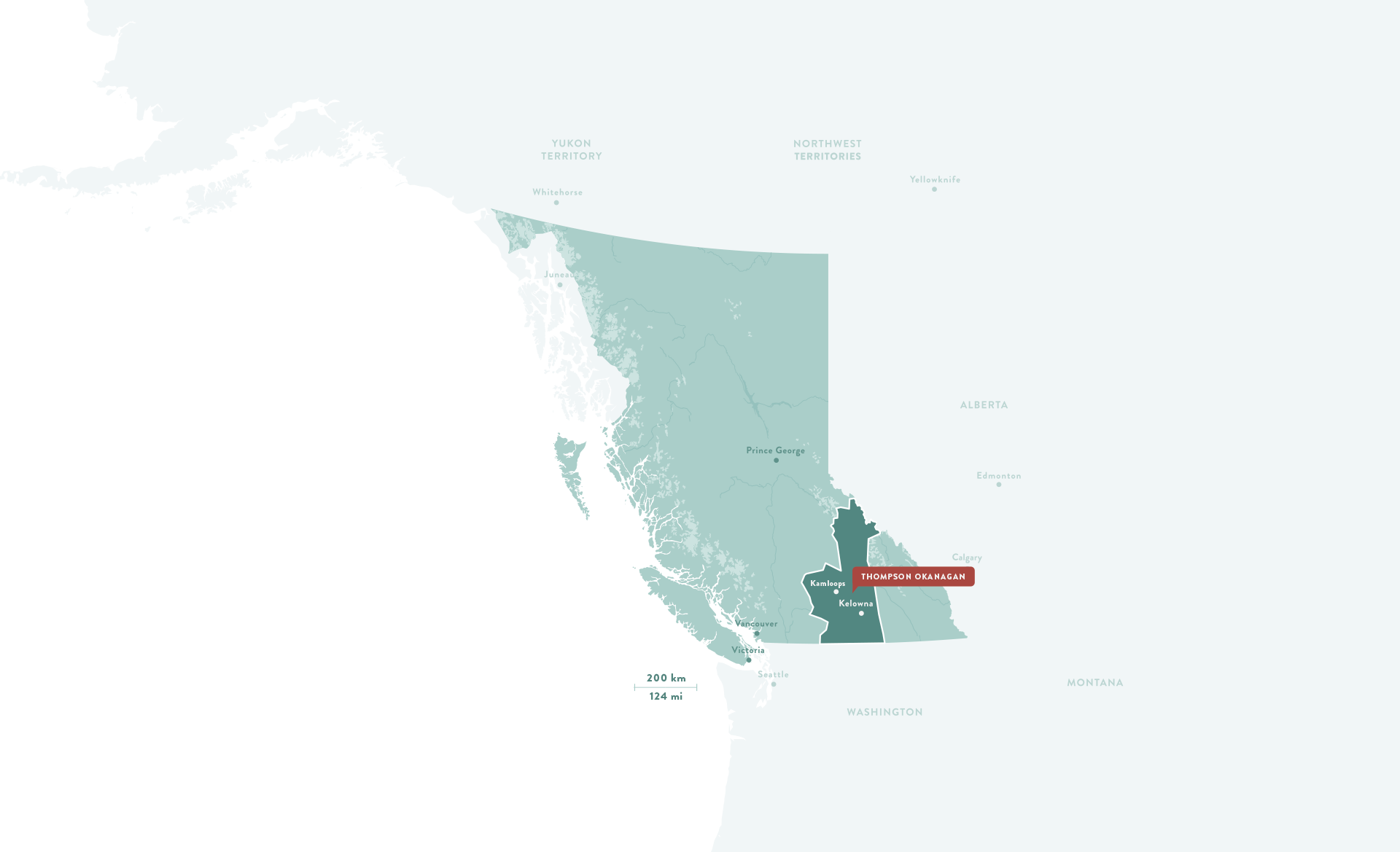 Thompson Okanagan region map