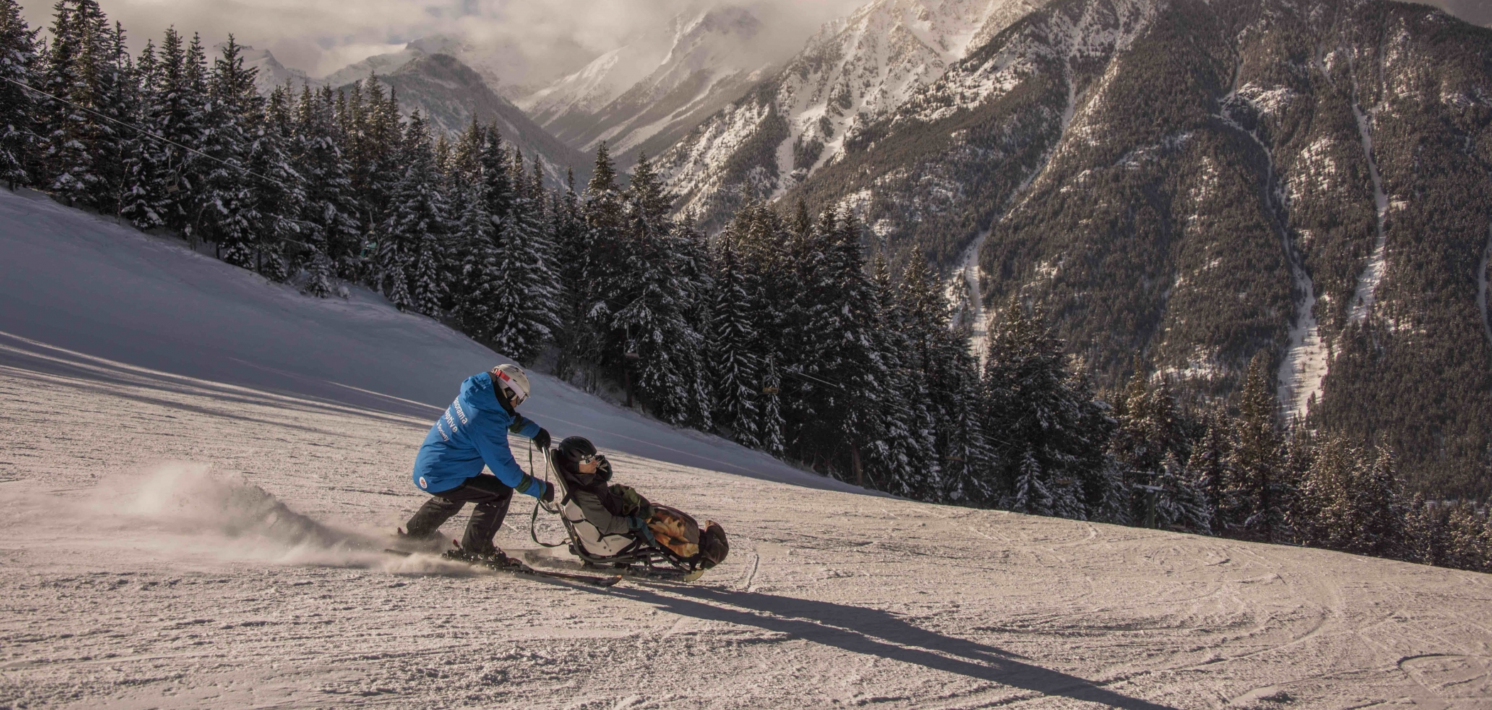 Adaptive skiing at Panorama Mountain Resort.