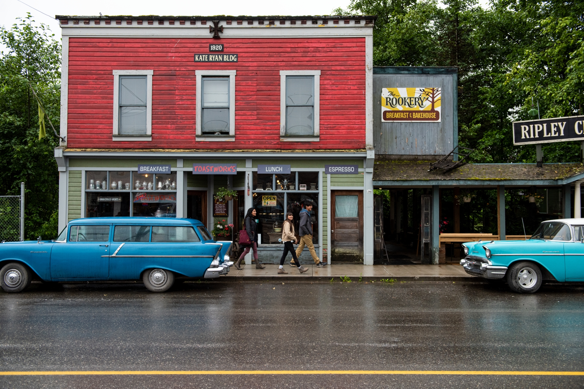 Family walking through the town of Stewart | 6ix Sigma