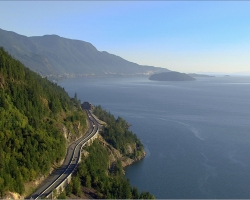 Sea to Sky Highway between Vancouver and Whistler