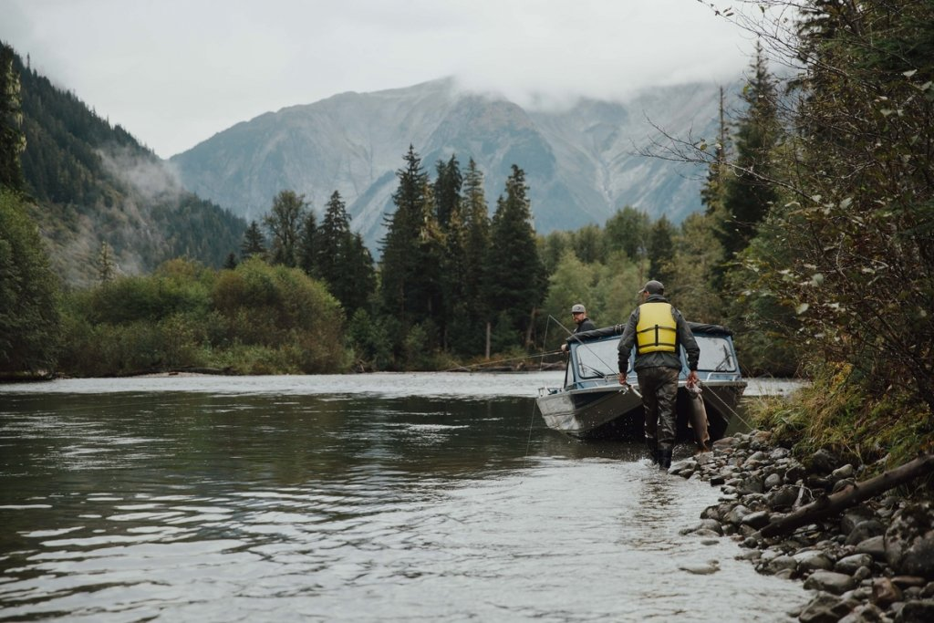 Fishing in Gitnadoix River in Kitimat | Destination BC/Mike Seehagel
