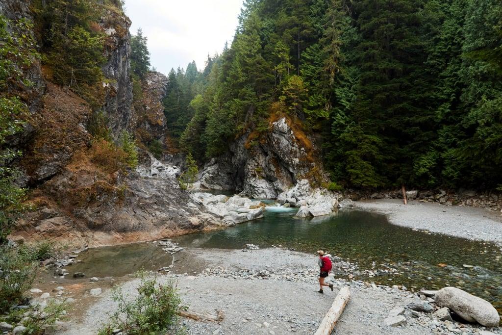Hiking at Kleanza Creek Provincial Park near Terrace. Credit Mike Seehagel