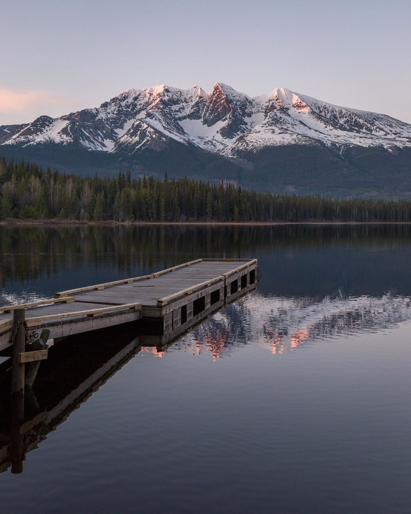 Northern BC lake vibes, with Hudson Bay Mountain in the distance | @jmacphotobc