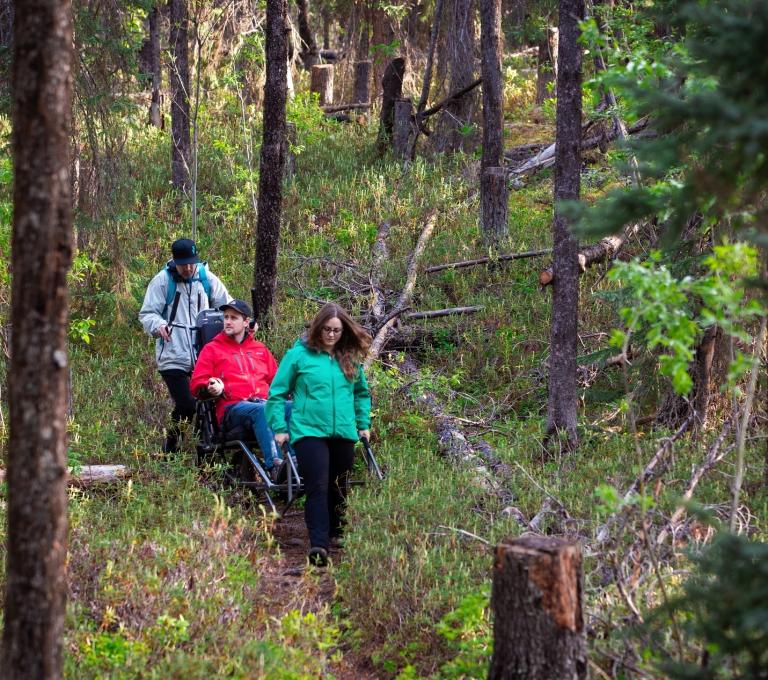 Using a Trail Rider on the way to Bergeron Falls | Northern BC Tourism/Jason Hamborg