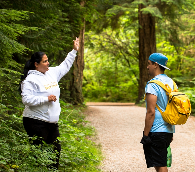 Talking Trees Tour in Stanley Park with Talaysay Tours | Indigenous Tourism BC/The Food Gays