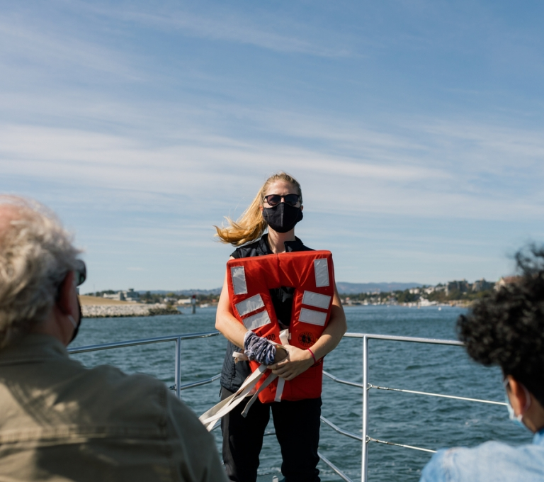 Springtide Whale Watching giving the rundown on safety at sea | Tourism Vancouver Island/Jordan Dyck