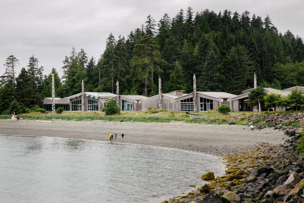 Haida Heritage Centre, pictured here, is the start and finish line of the Totem to Totem Marathon in Haida Gwaii.