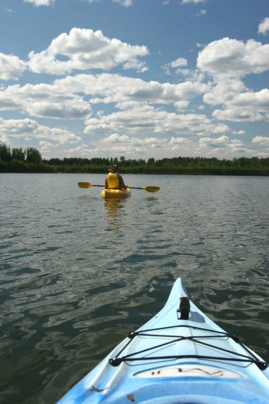 Kayaking on Eena Lake.