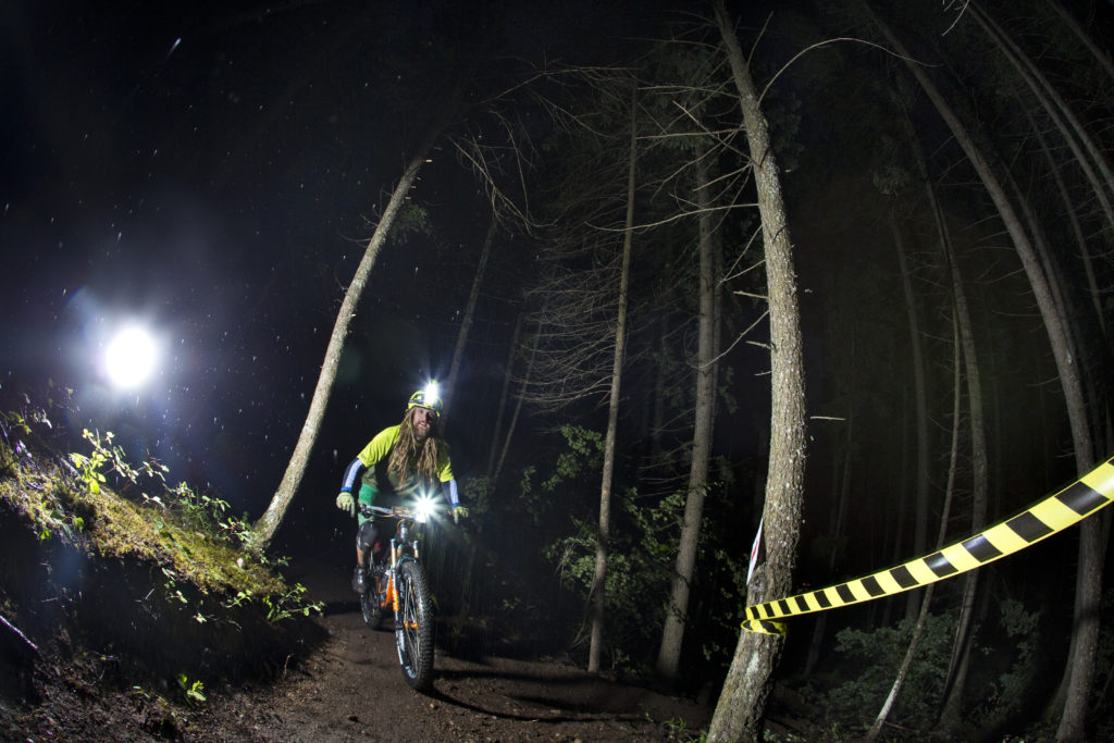 Riding in the dark is all part of the Golden 24 mountain bike race.