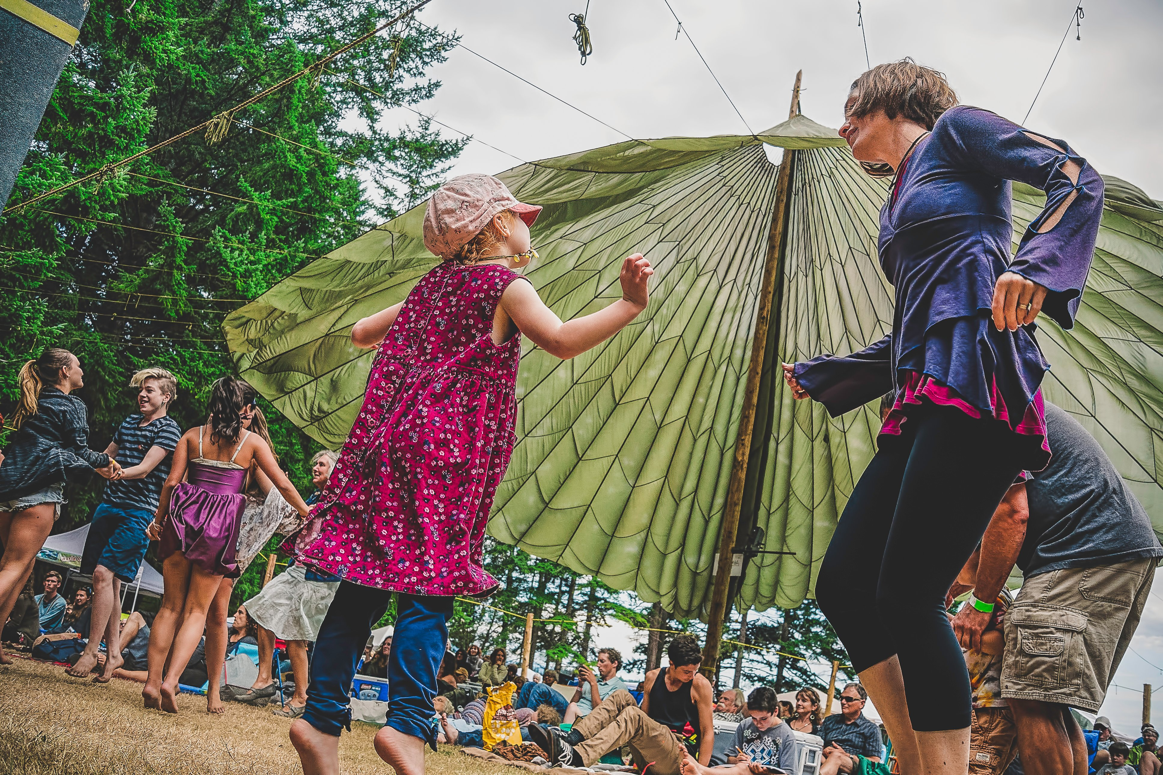 Dancing at Powell River's Sunshine Coast Music Fest