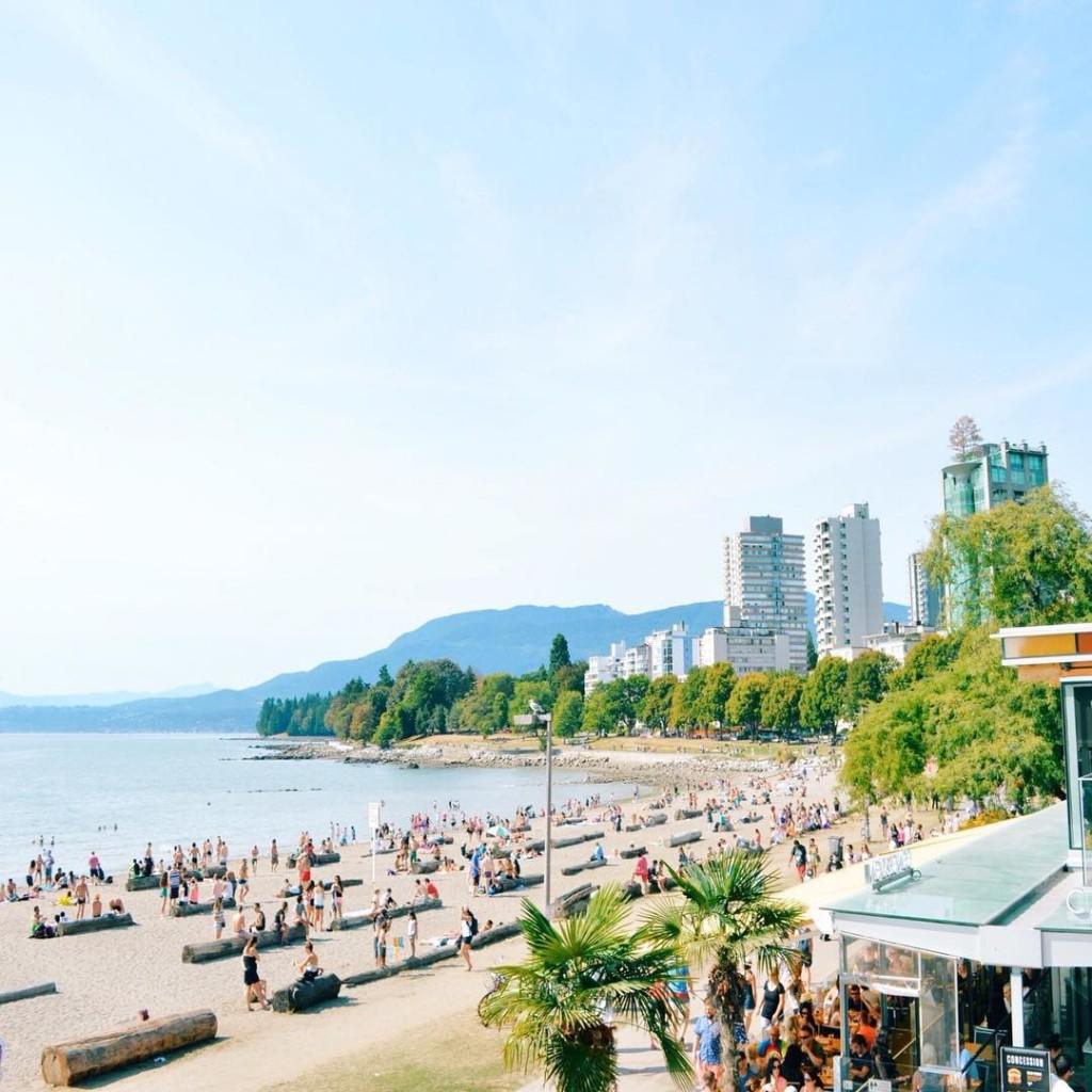 English Bay Beach in Vancouver. Photo: @zzzzoltan via Instagram