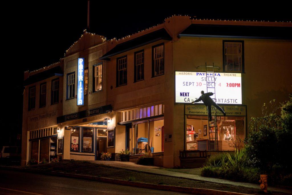 Patricia Theatre in Powell River's historic townsite, Sunshine Coast.