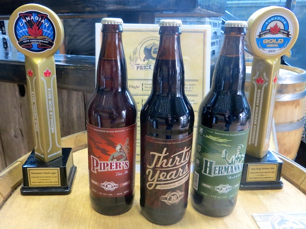 Awards at Vancouver Island Brewing. Photo: Joe Wiebe