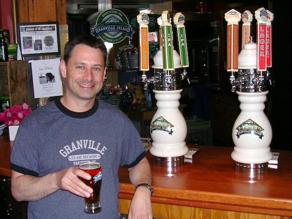 Granville Island Brewing's brewer, Vern Lambourne.