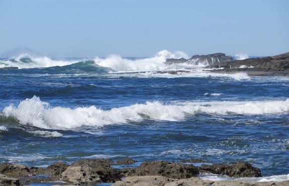 Waves crashing on Botanical Beach in Juan de Fuca Provincial Park, Vancouver Island.