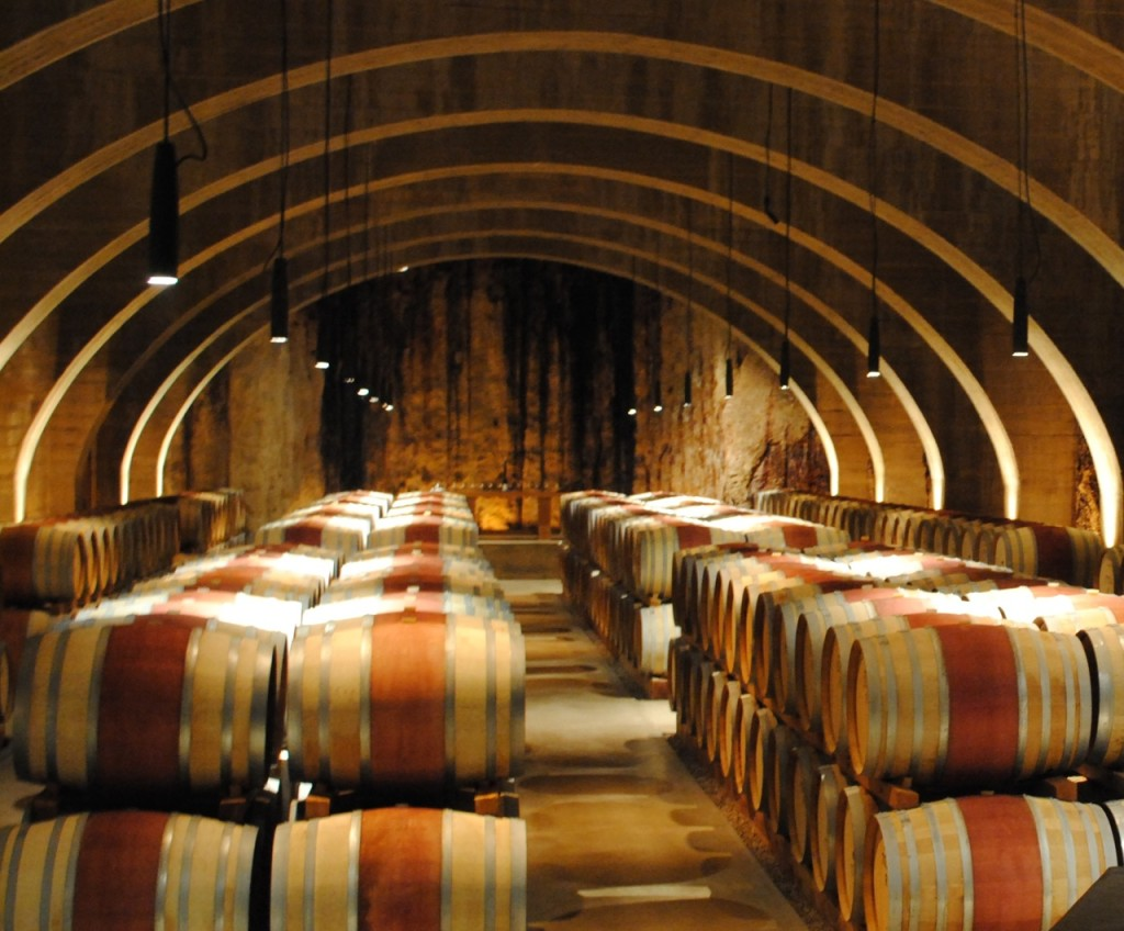 Wine barrels at Mission Hill Estate Winery in Kelowna. Photo: Rosalyne Buchanan