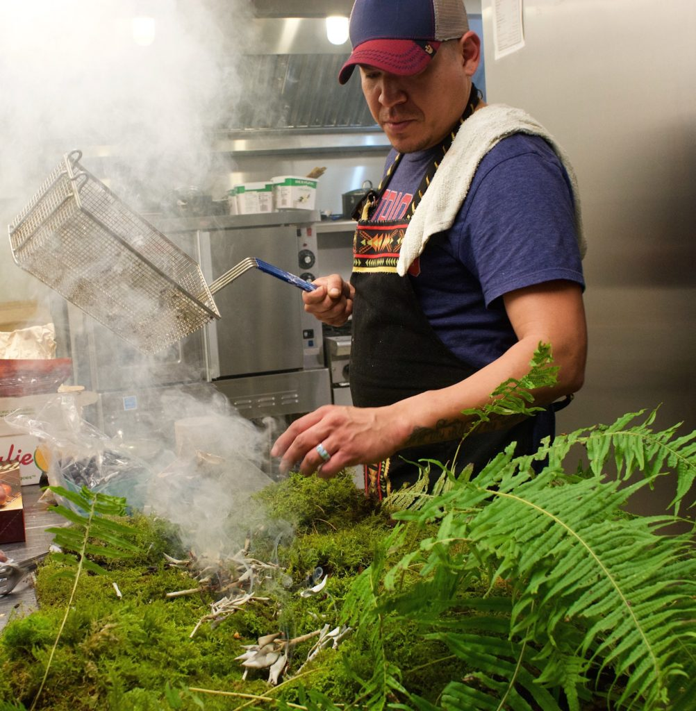 Chef Rich Francis at Skwachàys Lodge, in Vancouver.