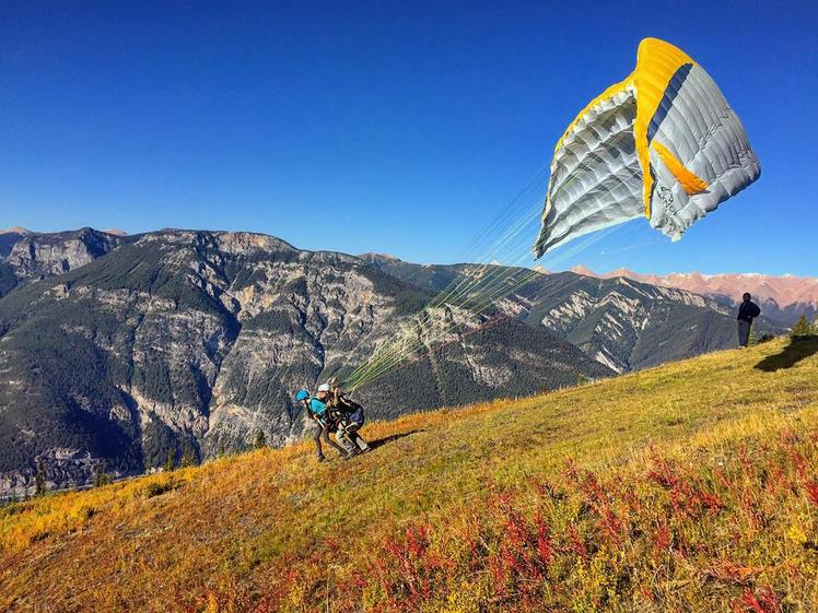 Getting ready to take flight over Golden. Photo: Tourism Golden