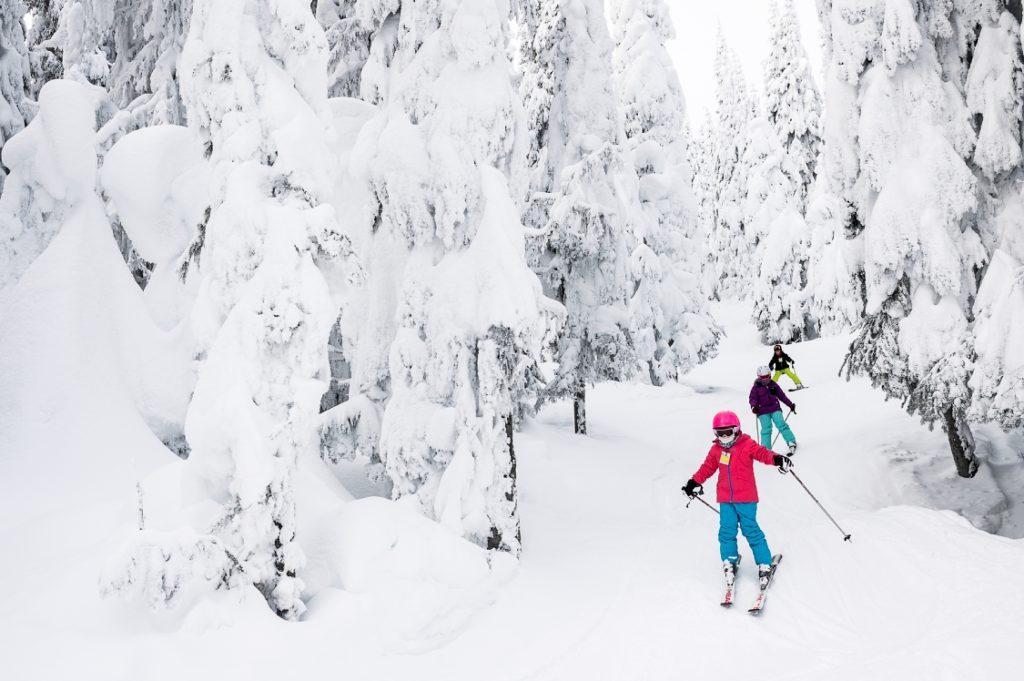 Learning to ski at SilverStar Mountain Resort.