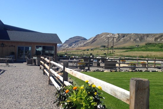 View of Harper's Trail winery near Kamloops