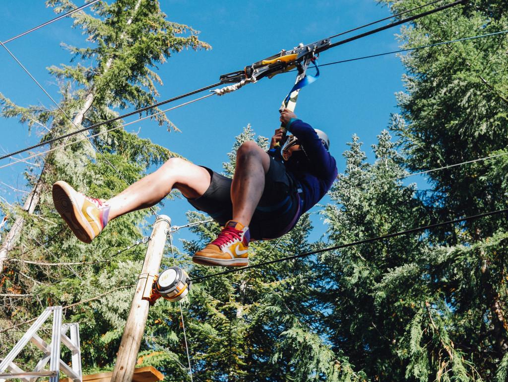The end of a very fun 2.2-km zip with Ziptrek in Whistler. Photo: Caley Vanular