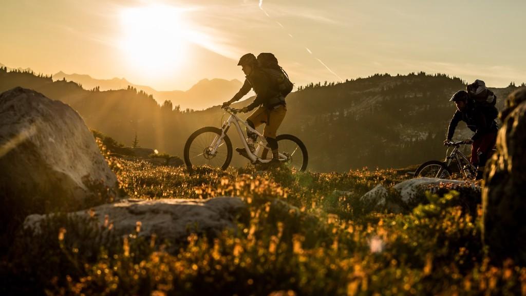 Mountain biking in Whistler.