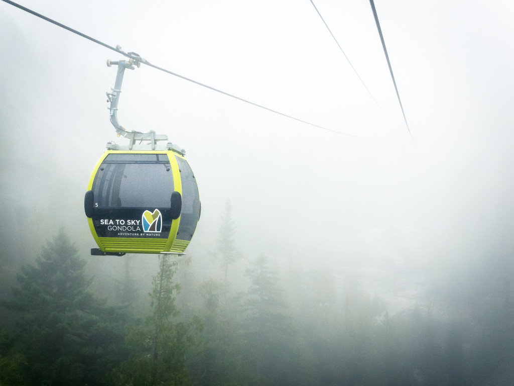 Cloudy day on the Sea to Sky Gondola