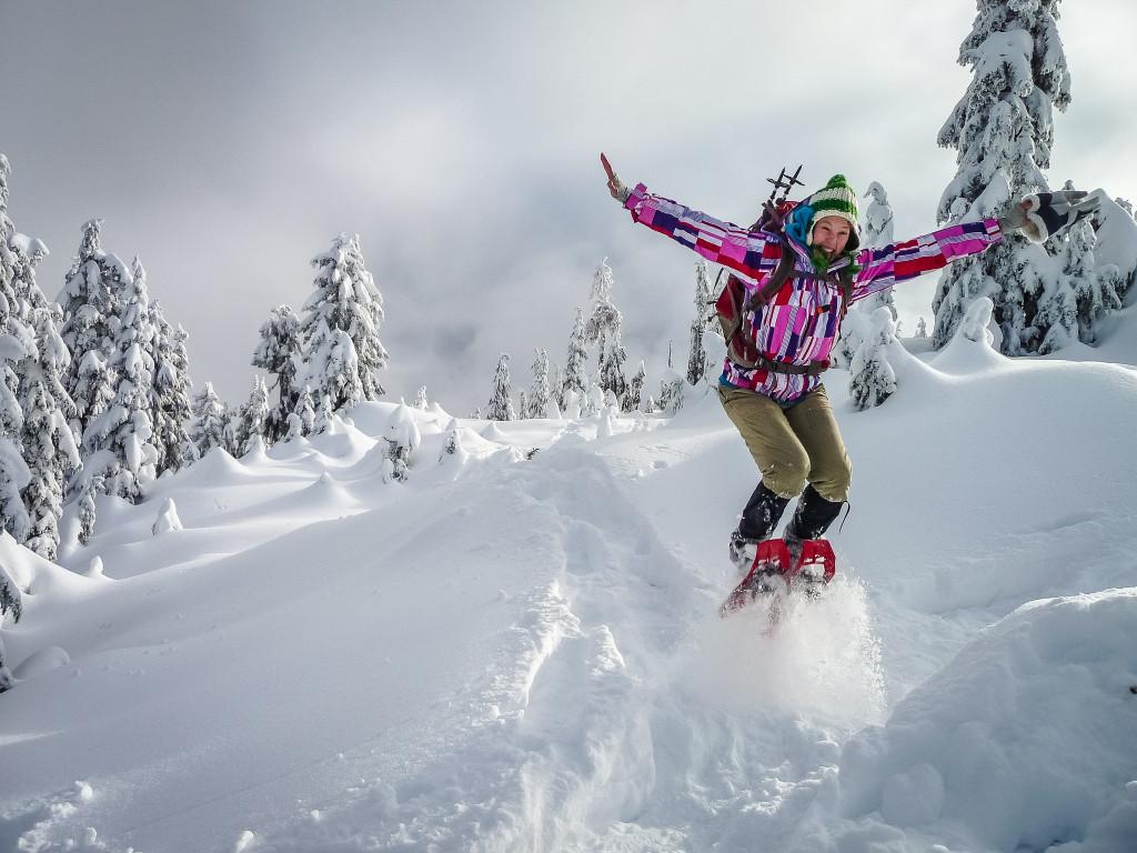 Snowshoeing near Squamish